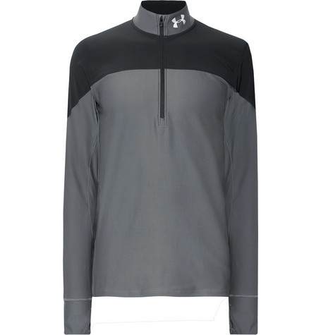 Under Armour Qualifier Colour-Block HeatGear Half-Zip Running Top