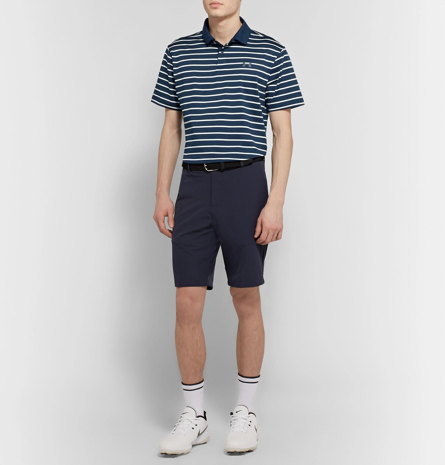 68c9b69a9a Under Armour - Performance Striped HeatGear Golf Polo Shirt