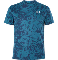 Under Armour - Speed Stride Mesh-Panelled Printed T-Shirt