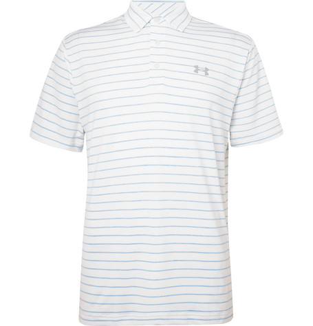 Under Armour Playoff 2.0 Striped HeatGear Golf Polo Shirt