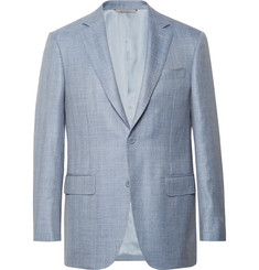 new styles 91807 fe4a1 Canali - Slim-Fit Light-Blue Wool, Silk and Linen-Blend Blazer
