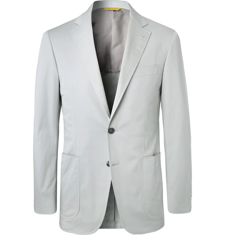 091af1c0f Canali - Stone Kei Slim-Fit Stretch-Cotton Twill Suit Jacket