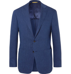 Canali - Blue Kei Slim-Fit Linen and Wool-Blend Suit Jacket