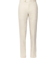 Canali - Beige Kei Slim-Fit Linen and Wool-Blend Suit Trousers