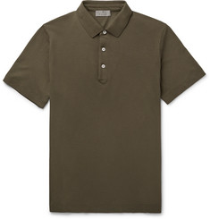 Canali Stretch-Cotton Piqué Polo Shirt