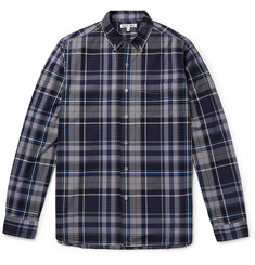 Alex Mill Button-Down Collar Checked Cotton-Poplin Shirt