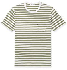 4f73bee595e Alex Mill Slim-Fit Striped Slub Cotton-Jersey T-Shirt