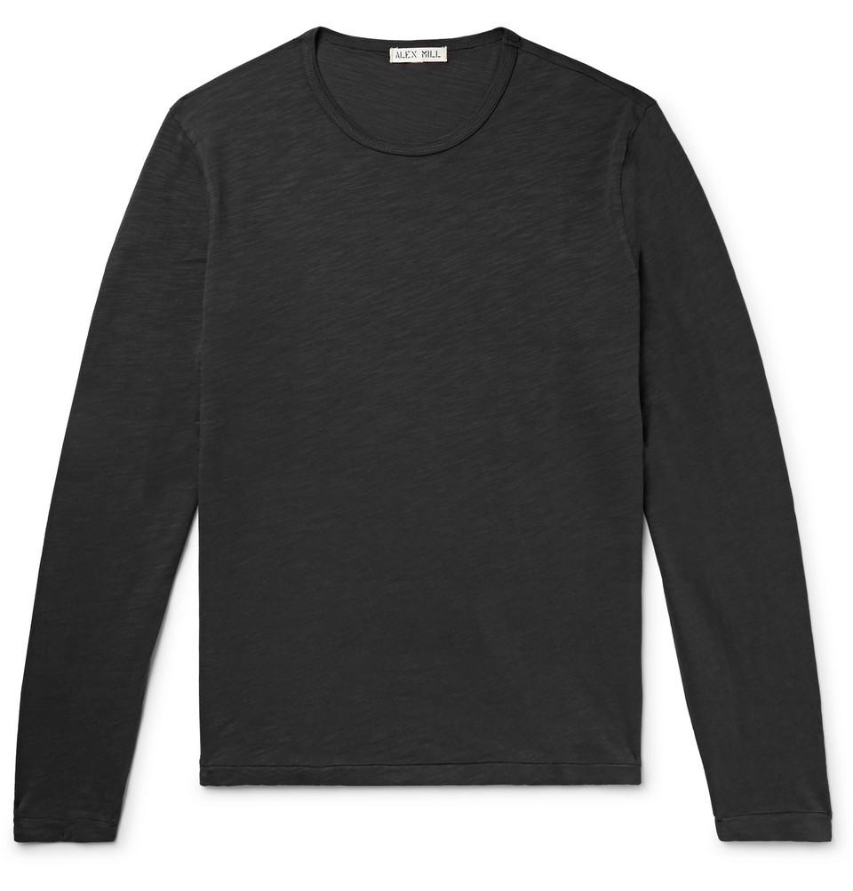 Slub Cotton-jersey T-shirt - Black