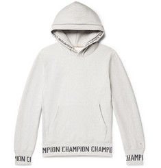 97fe0988682c Todd Snyder + Champion Logo-Jacquard Loopback Cotton-Jersey Hoodie