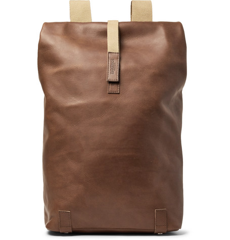 BROOKS ENGLAND Pickwick Large Leather Backpack in Light Brown