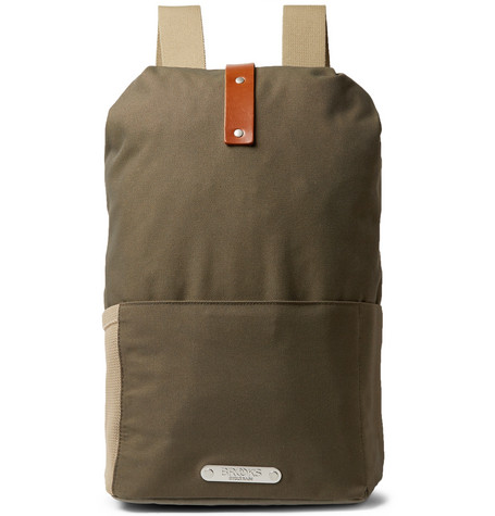 fe636f1b3 Brooks England - Dalston Medium Leather-Trimmed Canvas Backpack