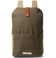 Brooks England Dalston Medium Leather-Trimmed Canvas Backpack