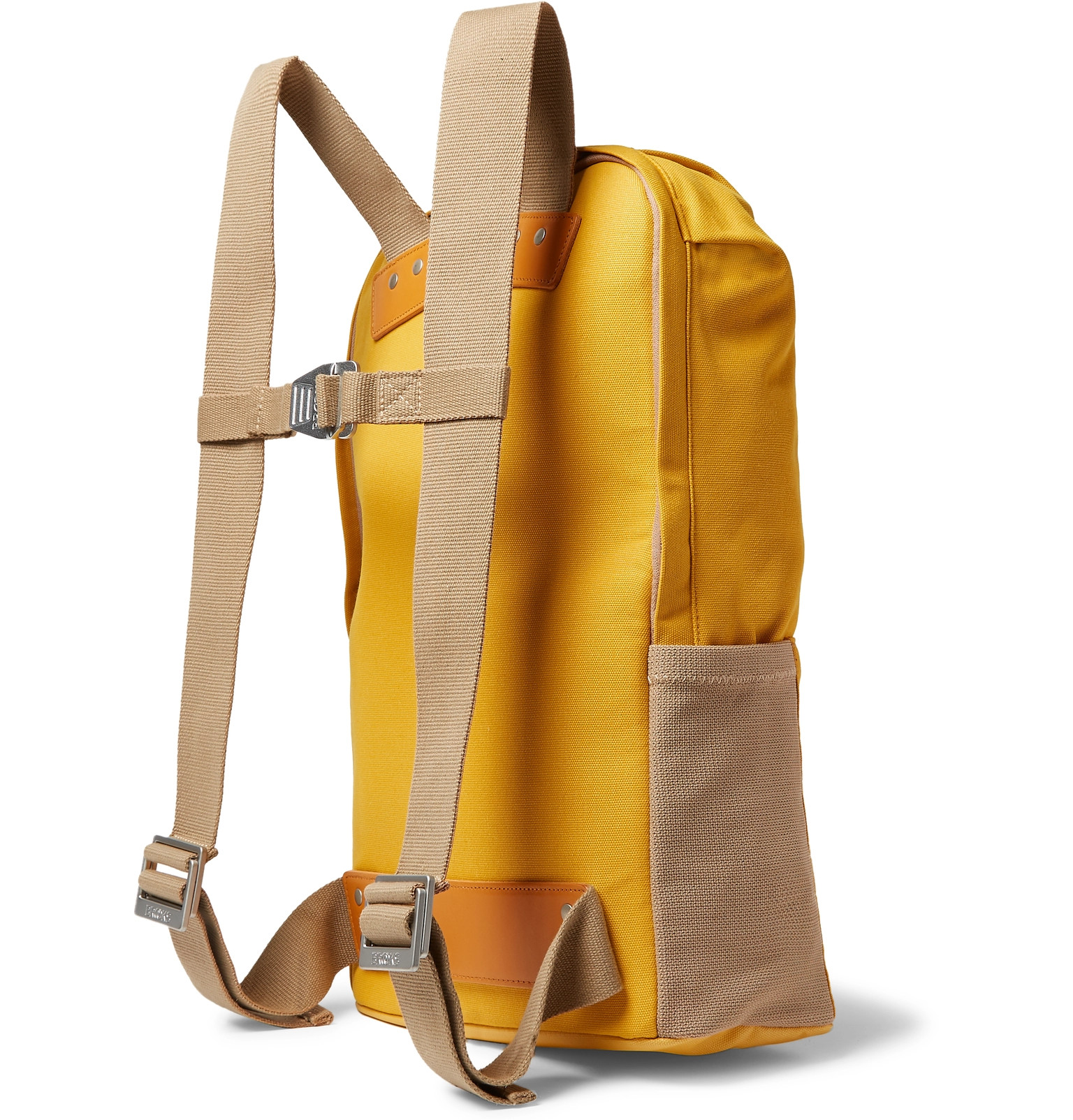 075261837 Brooks England - Dalston Leather-Trimmed Canvas Backpack