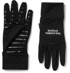Pas Normal Studios Light Touchscreen Fleece-Back Stretch-Jersey Gloves