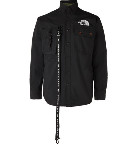Black Series Kk Coach Webbing Detailed Shell Overshirt by The North Face