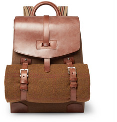 James Purdey & Sons Leather-Panelled Canvas Backpack and Wool Blanket