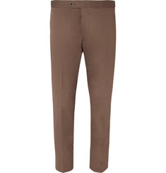 Mr P. Cropped Tapered Cotton-Twill Trousers