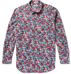 Engineered Garments Floral-Print Cotton-Poplin Shirt