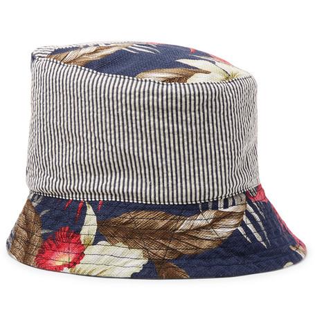 e37ac40fd7c Engineered Garments - Patchwork Printed Cotton Bucket Hat