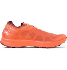 Norvan Sl Rubber-trimmed Mesh Running Sneakers - Orange