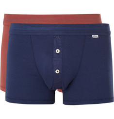 Schiesser Karl Heinz Two-Pack Cotton-Jersey Boxer Briefs