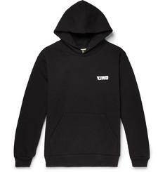 Logo-print Fleece-back Cotton-jersey Hoodie - Black