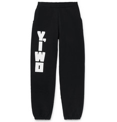 Y,IWO - Logo-Print Fleece-Back Cotton-Jersey Sweatpants