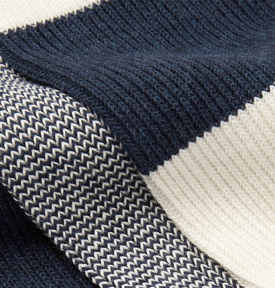 Mr P. Three-Pack Cotton-Blend Socks