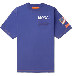 Heron Preston + NASA Oversized Embroidered Printed Cotton-Jersey T-Shirt