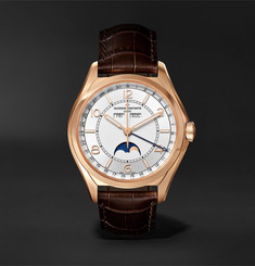 Vacheron Constantin - Fiftysix Automatic Complete Calendar 40mm 18-Karat Pink Gold and Alligator Watch