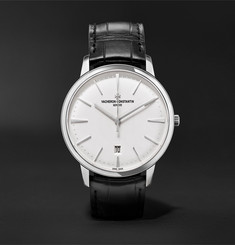 Vacheron Constantin Patrimony Automatic 40mm 18-Karat White Gold and Alligator Watch