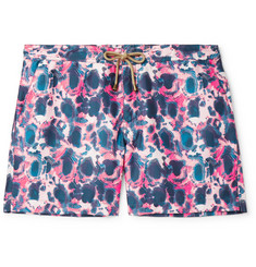 Thorsun Slim-Fit Mid-Length Printed Swim Shorts