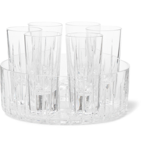 LINLEY Trafalgar Shot Glass And Cooler Set in Clear