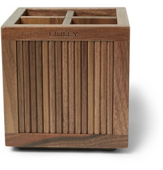Linley - Tambour Walnut Pencil Pot
