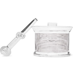 Tom Dixon Tank Striped Glass Ice Bucket and Tongs
