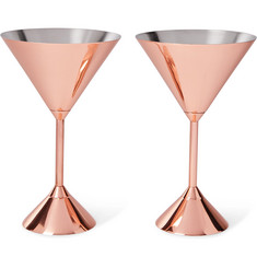 Tom Dixon - Plum Set of Two Copper-Plated Martini Glasses