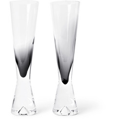 Tom Dixon Tank Set of Two Dégradé Champagne Flutes