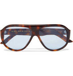 Kirk Originals Reed Aviator-Style Tortoiseshell Acetate Sunglasses
