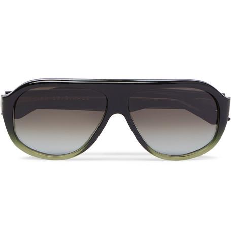 KIRK ORIGINALS | Kirk Originals - Reed Aviator-style Acetate Sunglasses - Green | Goxip
