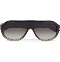 Reed Aviator-style Acetate Sunglasses - Green