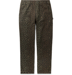 Stüssy Leopard-Print Cotton-Twill Trousers