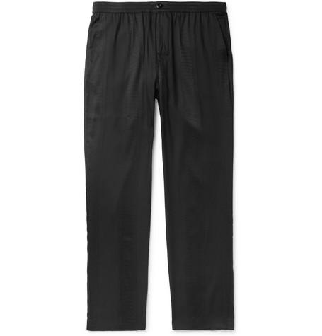 Black Bryan Snake Print Jersey Trousers by Stüssy