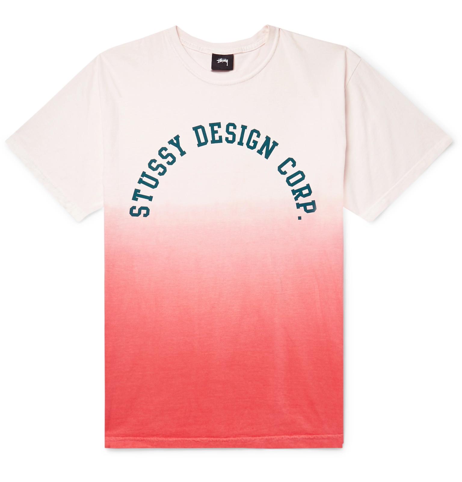 80de4ae732be0 Stüssy - Logo-Print Ombré Cotton-Jersey T-Shirt