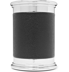 Graf von Faber-Castell - Epsom Textured-Leather and Silver-Tone Pencil Pot