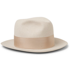 Borsalino The Bogart Grosgrain-Trimmed Rabbit-Felt Fedora