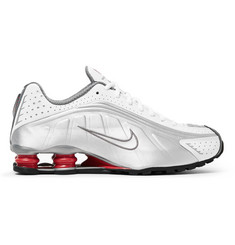 Nike Shox R4 Leather and Mesh Sneakers