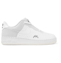 Nike + A-COLD-WALL* Air Force 1 Leather and Suede Sneakers