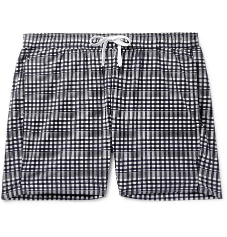 6eac2284f6 Onia - Charles Slim-Fit Mid-Length Checked Seersucker Swim Shorts