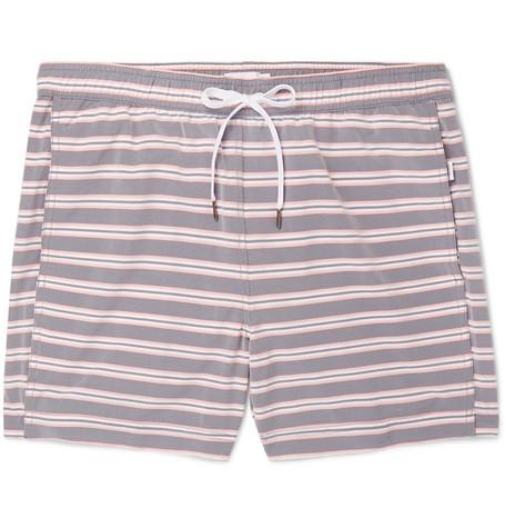 f70de00e22 Onia - Charles Mid-Length Striped Swim Shorts