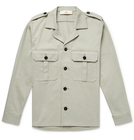 Jack Camp Collar Cotton Twill Shirt Jacket by Séfr